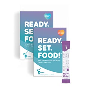 Early Allergen Introduction for Babies, Peanut, Egg & Milk: Stage 1 & 2, 45 Days - Mix with breast milk, formula, or food to help prevent food allergies by Ready, Set, Food! | As seen on Shark Tank