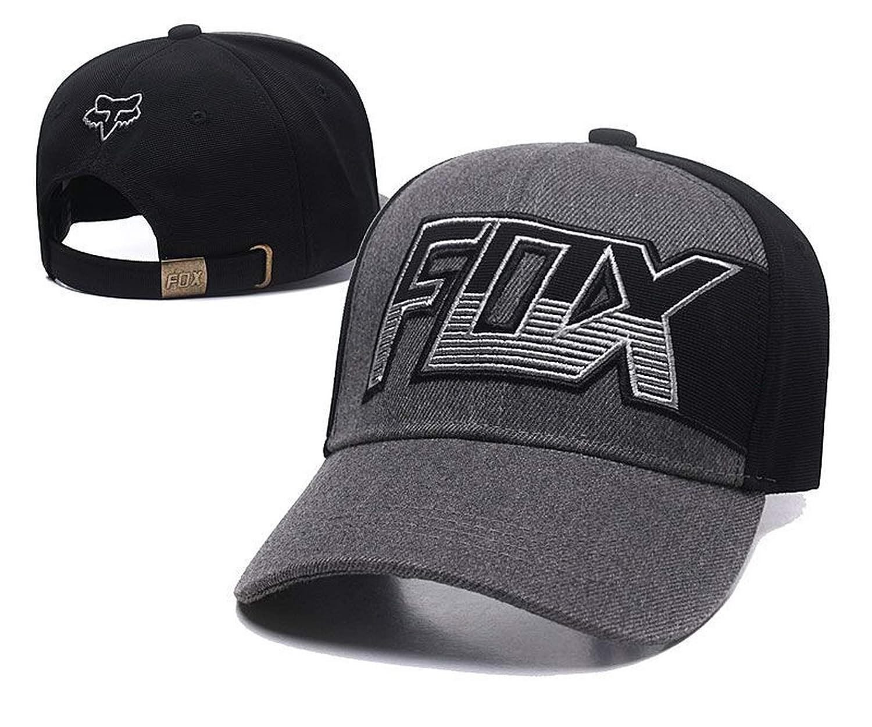 Fashion Fox Baseball Cap Women Men Motor Sports Snapback Hat Unisex Cartoon