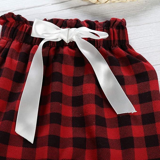 NUSGEAR Outfit Natale Set 3pcs Neonato Bambino Pagliaccetto Tutine Body Cappello Abiti Set Vestito Natale Regalo per Bambini Pantaloni