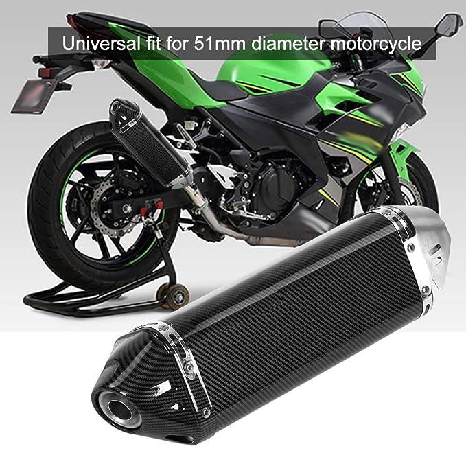 Tubo de escape, motocicleta estilo de fibra de carbono ...