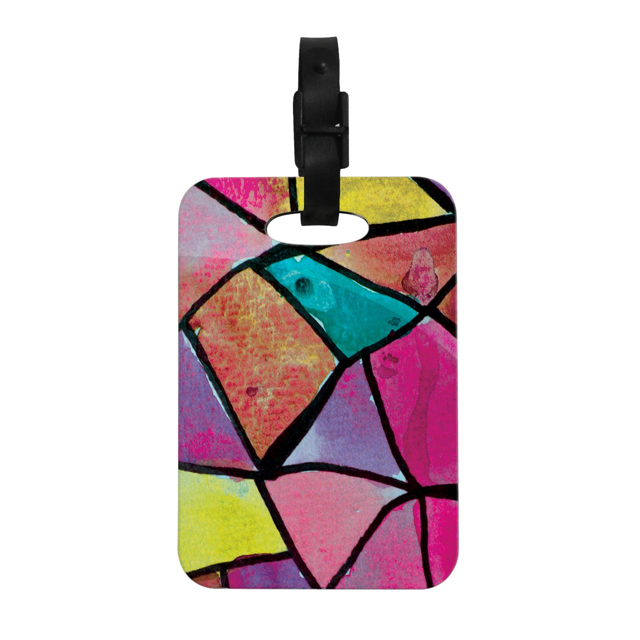 Kess InHouse Theresa Giolzetti Stain Glass 3'' Decorative Luggage Tag, 4 by 4-Inch