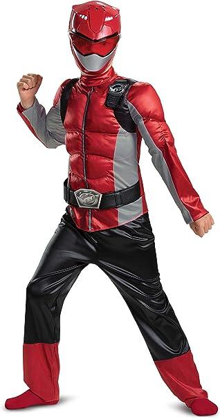Disguise Disfraz de Power Ranger Beast Morpher, niño, Rojo, S ...