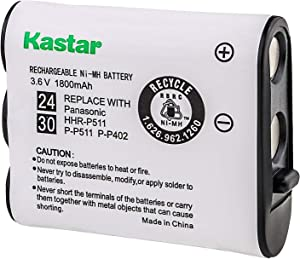 Kastar Battery Replacement for Panasonic N4HKGMA00001 Cordless Phone Battery and Panasonic P-P511, HHR-P511, Type 24 Rechargeable Battery