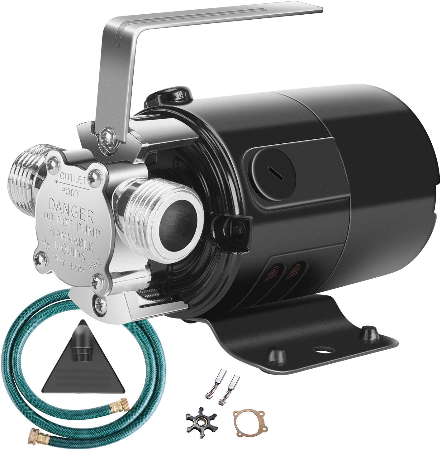 VIVOSUN 330 GPH Water Transfer Utility Pump 115V 1/10HP with Water Hose Kit, Impeller and Gasket