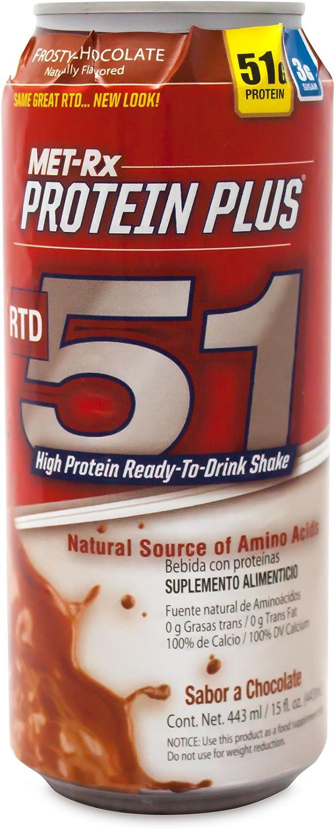 Met-Rx proteína Plus IDT 51, 15 oz (Pack de 12)