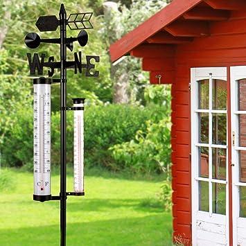 Outdoor Garden Weather Station Rain Gauge Wind Speed Direction