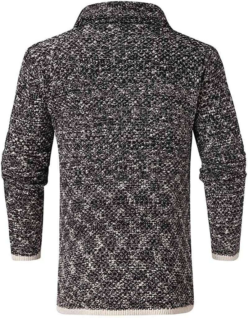 Jofemuho Mens Slim Fit Plain Knitted Round Neck Pullover Sweater Jumper Top