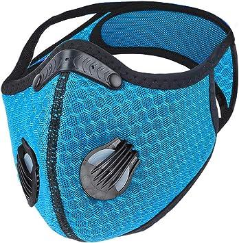 Amazon Com Dulzod Dust Masks Veil Reusable Carbon Activated Filters Black Cloth Face Mask Carbon Filter Face Mask Blue 1pcs Sports Outdoors