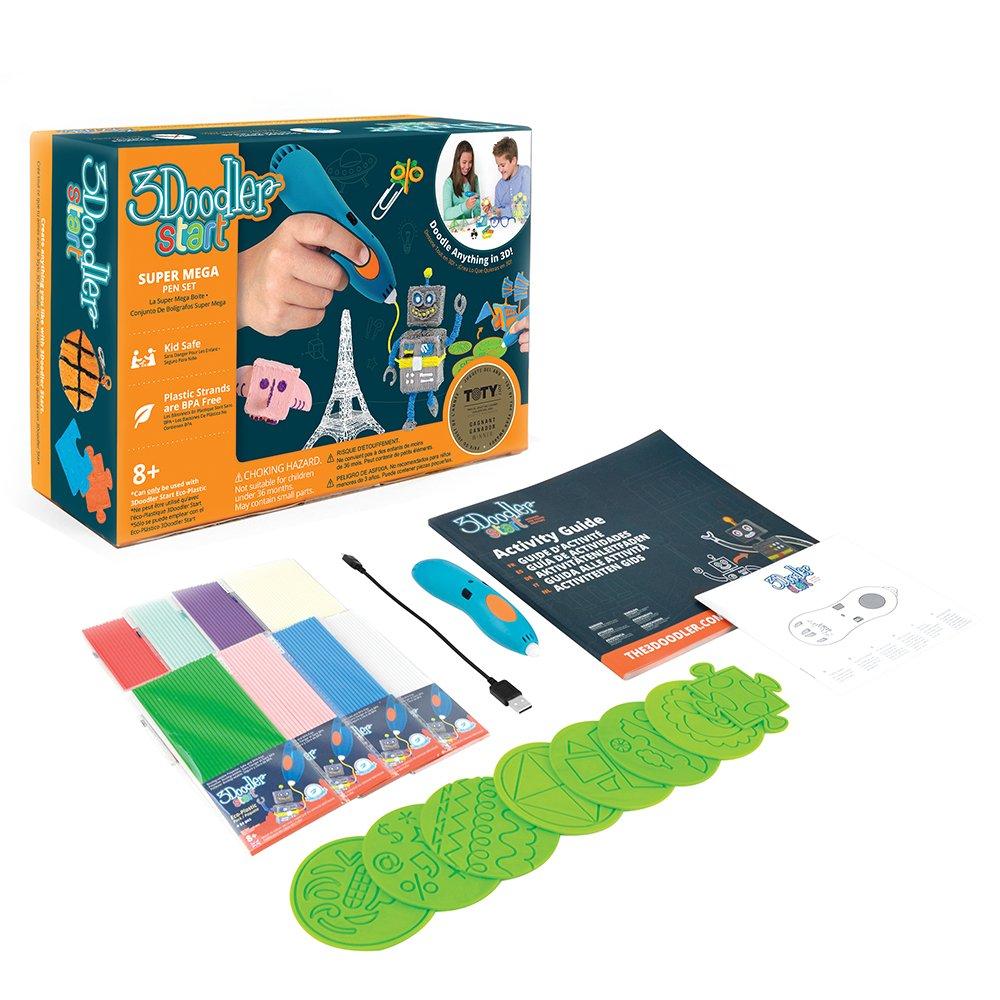3Doodler Start Mega Box Set 3D Printing Pen – Designed for Young Creators – Doodle Anything in 3D