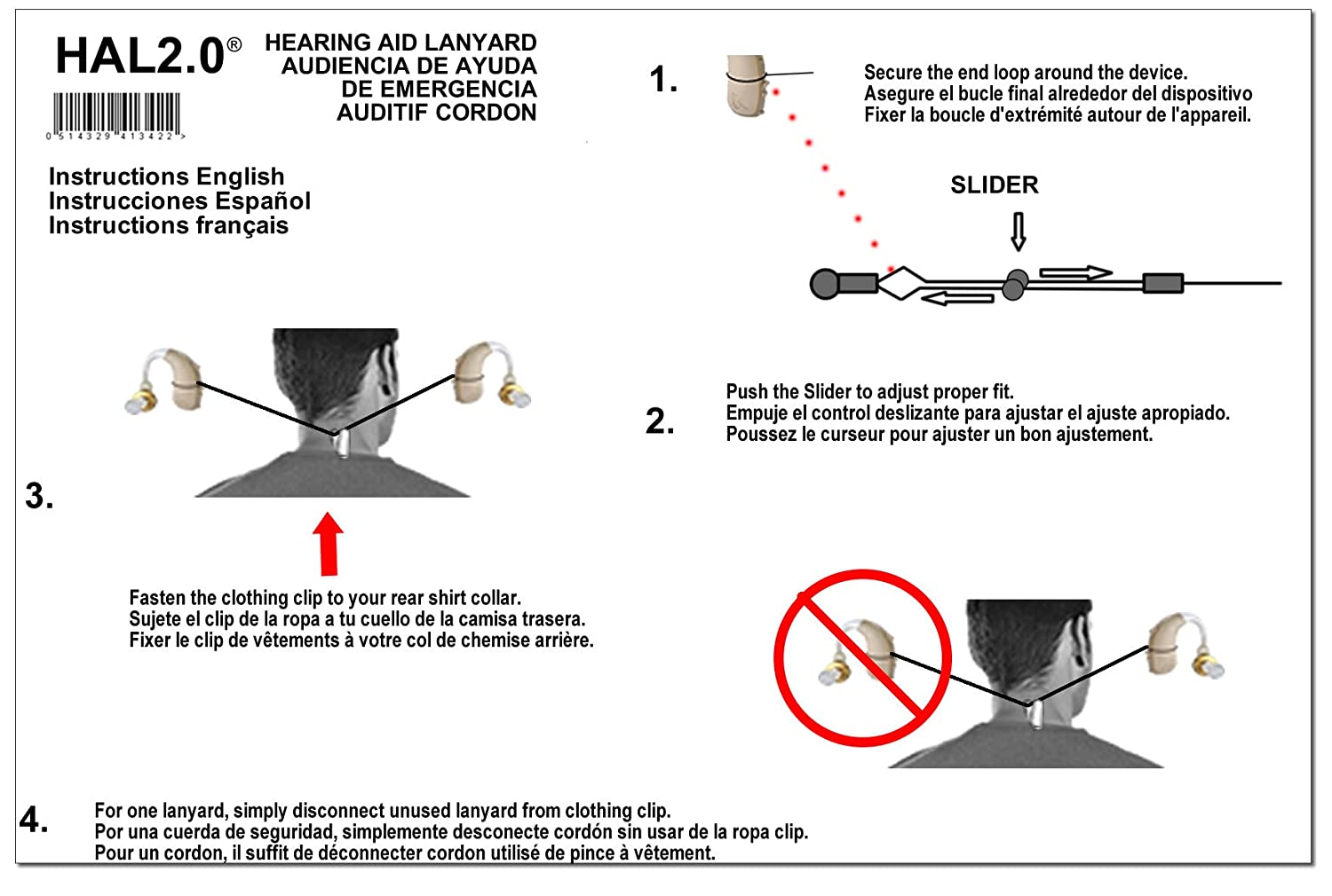 Amazon.com: Hearing Aid Lanyard / Strap - 100% Compatibility With All Hearing Aids: Health & Personal Care