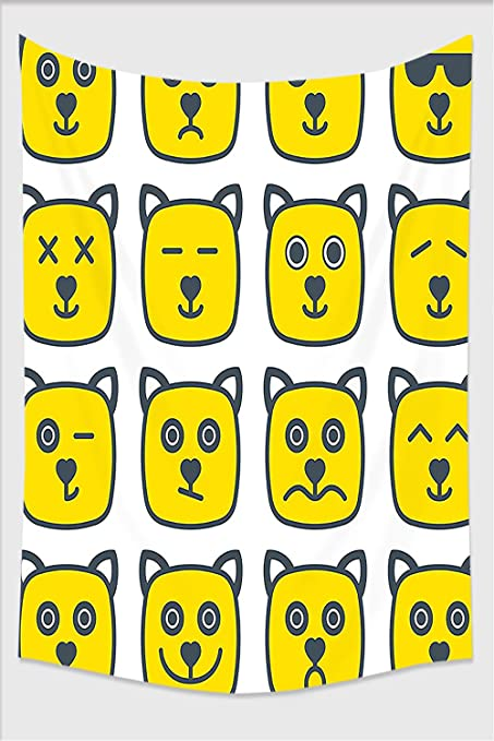 Amazon.com: Nalahome-Emoji Cat Dog like Animal Smiley Face with ...