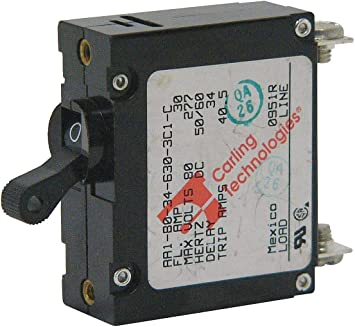 AA1 Series Carling Technologies 10 AMP White Toggle switch Circuit Breaker ...