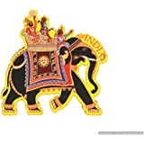 Skywalk India Souvenir Wooden Fridge Magnet - Elephant, Perfect for Gifting