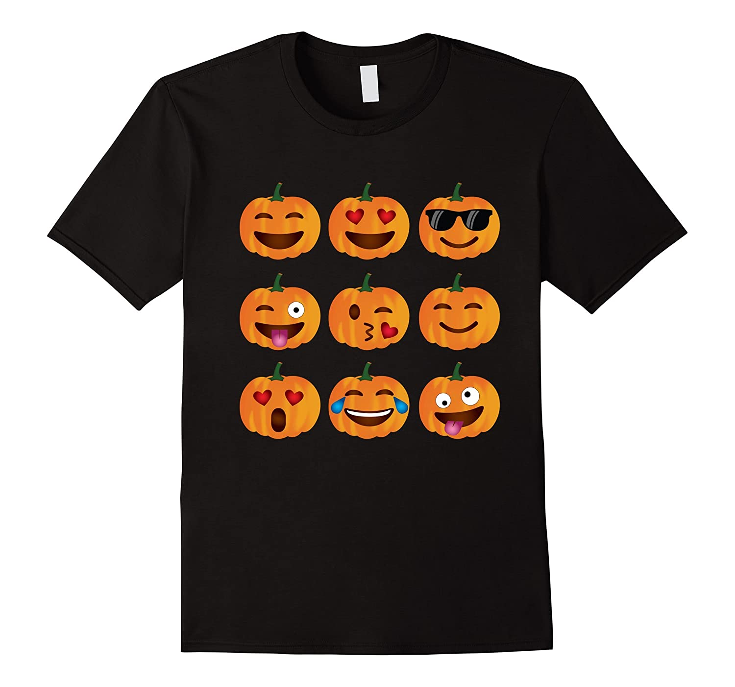 Pumpkin Emoji T-Shirt, Pumpkin Shirt Emoji Halloween Costume-T-Shirt