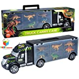 Toys Bhoomi 2 in 1 Dinosaur Safari Transport Car Long Haul Carrier Truck Case - Stores Upto 6 Dino's