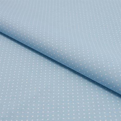 Stoff Meterware Punkte 0,8 cm hellblau himmelblau weiß Baumwolle  Petticoat