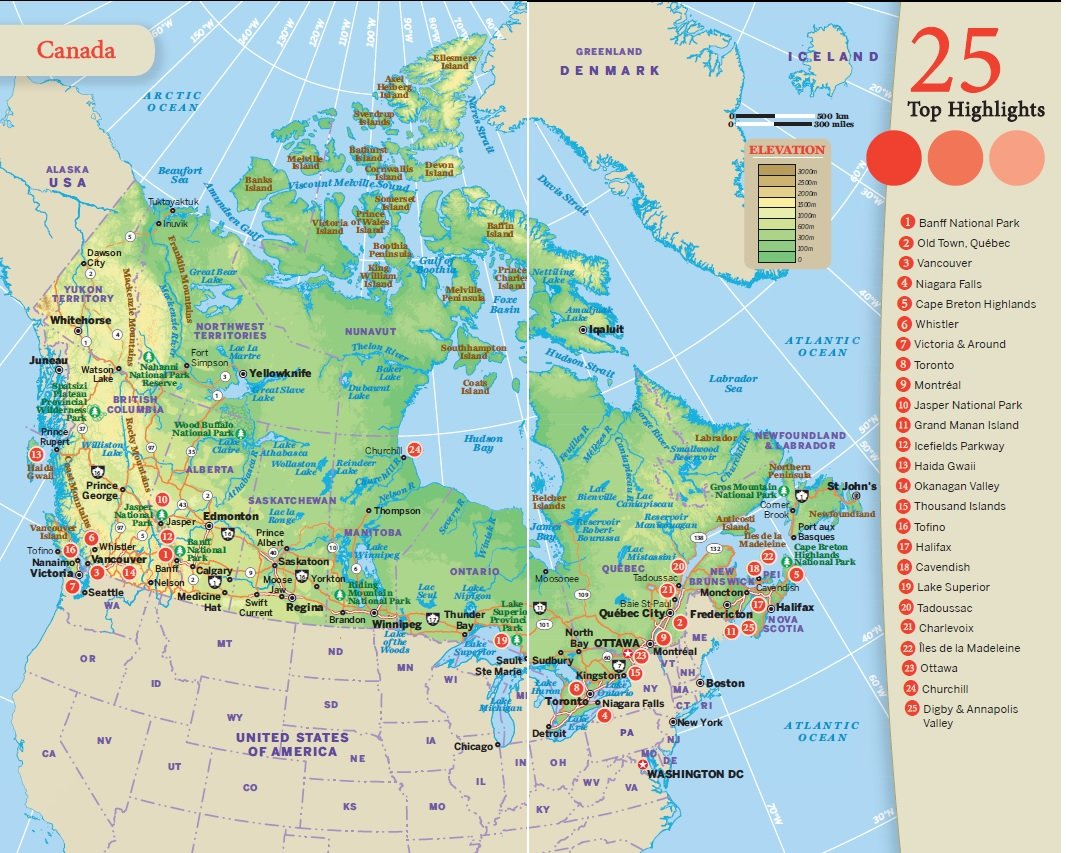 Canada Map Lonely Planet Lonely PlaDiscover Canada (Travel Guide): Lonely Pla