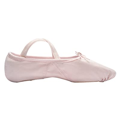 1004 Ballett Demi-Pointes Pirouette Danse Classique Ballet Gymnastique Danse Jazz Sport en Toile, BI-semmelle Rosé