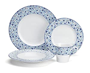 Cuisinart CDP01-S4A Aleria Collection 16-Piece Porcelain Dinnerware Set