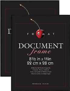 MCS 8.5x11 Inch Format Frame 2-Pack, Black (65555)