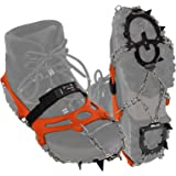 ALPIDEX Crampones Antidesilisantes 12 Dientes Acero Inoxidable Crampones Zapatos Escalada Hielo Barro Nieve Alpinismo…