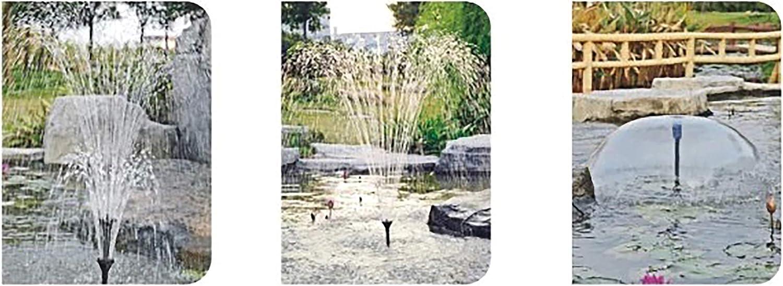 PPCLION Fountain Spray Head Nozzle Kit for Garden Hose Pumps,Fish Tank,Pond Pool and Aquarium Garden,L Code, Black