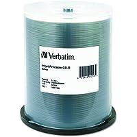 Verbatim CD-R 700MB 52X Silver Inkjet Printable Recordable Media Disc - 100pk Spindle