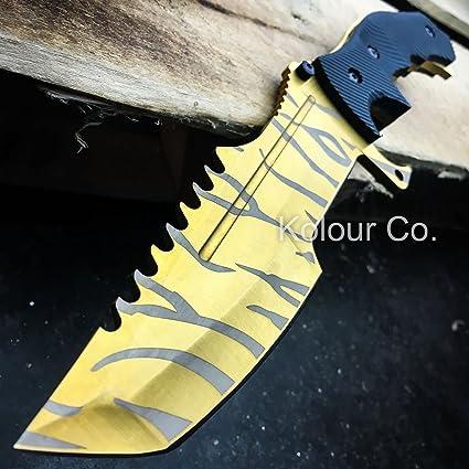 Amazon.com: CS Go Huntsman cuchillo de hoja fija de caza ...