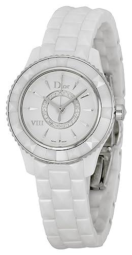 93b606ac2ab9 Christian Dior VIII Diamante Blanco Cerámica Damas Reloj cd1221e2 C001  Christian  Dior  Amazon.es  Relojes