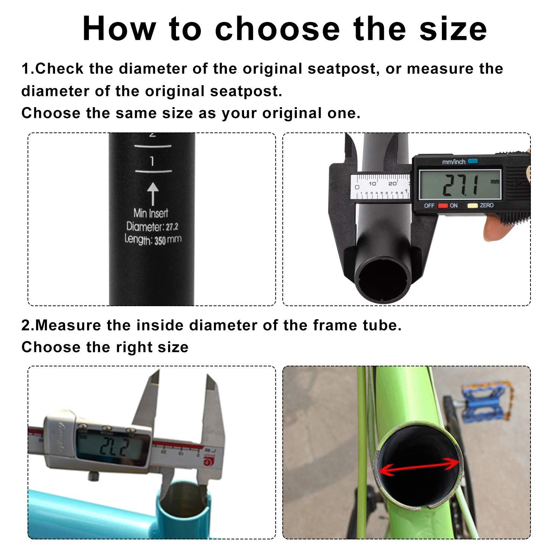 NONMON Tija de Sill/ín para Bicicleta de Carretera Bici de Monta/ña Aleaci/ón de Aluminio