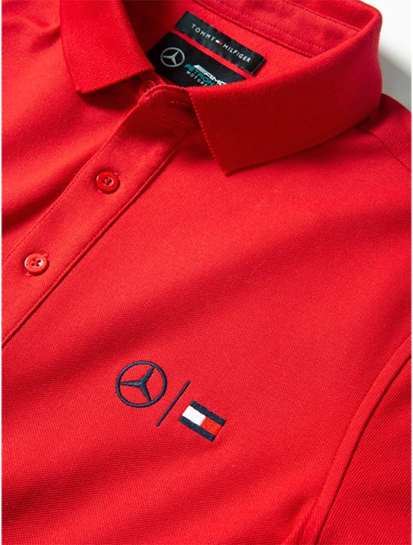 Polo para Hombre de Tommy Hilfiger para Mercedes-Benz Rojo M ...