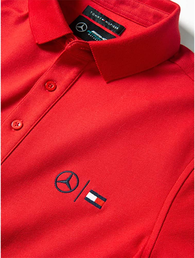 Polo para Hombre de Tommy Hilfiger para Mercedes-Benz Rojo L ...