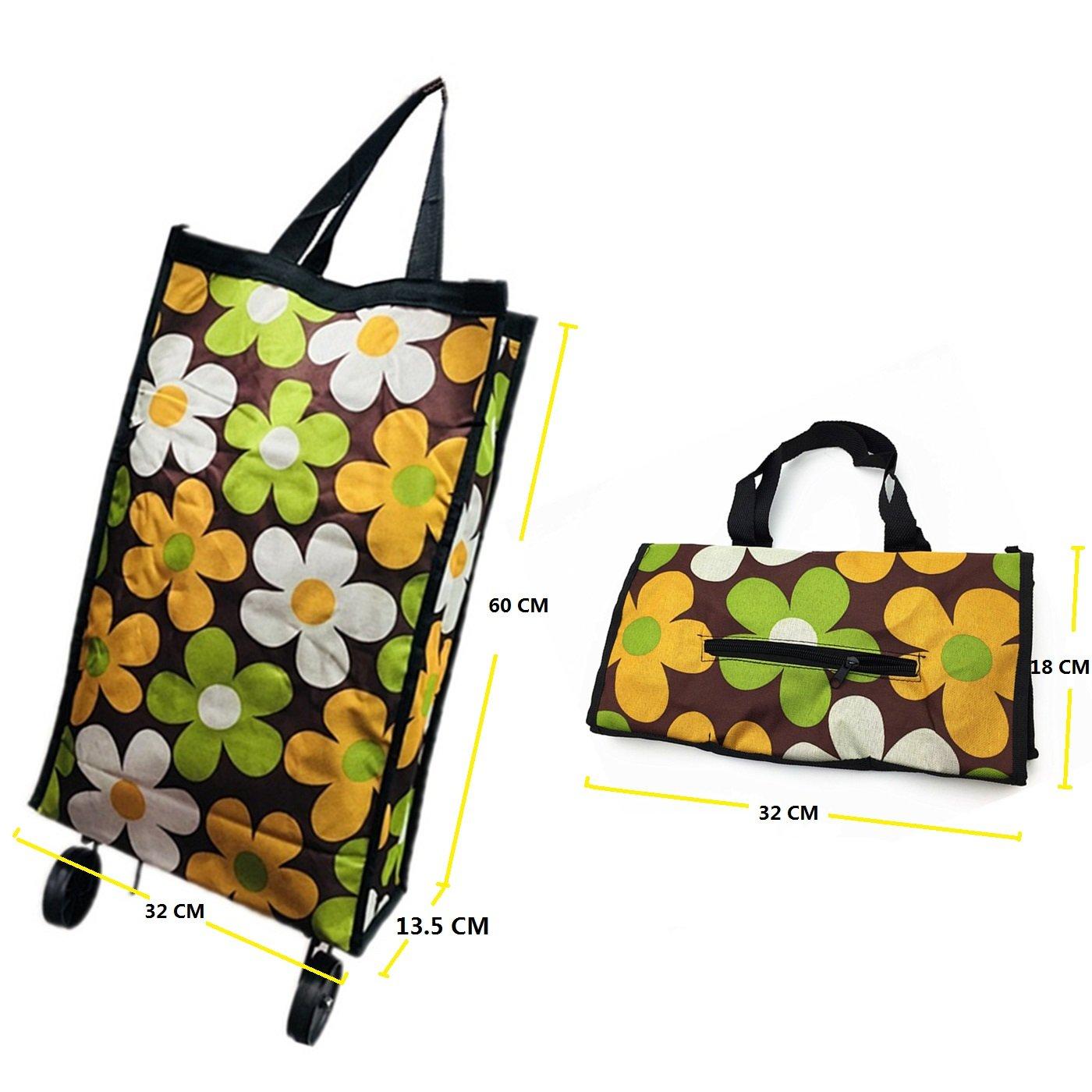Carrito De La Compra/Plegable Grande Bolsas/bolso de la rueda (paquete de 1) (lalla)