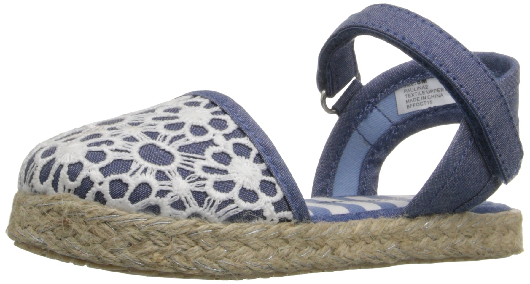 Hanna Andersson Paulina Girl's Espadrille(Toddler/Little Kid/Big Kid), Chambray, 8 M US Toddler