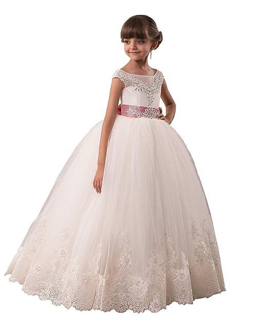abwedding boda vestidos de niña de flores de dama Fiesta Ocasión de novia fiesta