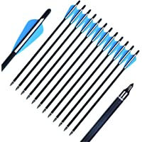 """50x 7.5/"""" Archery Carbon Crossbow Bolts Arrows 2 Vane Field Point Hunting Target"""