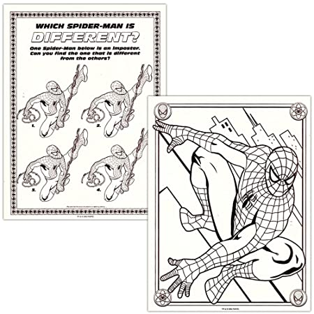 Amazon Spider Man Coloring Activity Book Set 2 Books 96 Pgs Each By Marvel Comics Toys Games