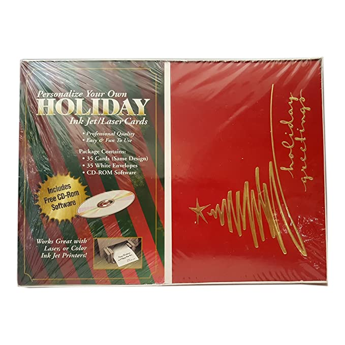 Amazon personalized holiday greetings ink jet laser cards 35 amazon personalized holiday greetings ink jet laser cards 35 w envelopes office products m4hsunfo