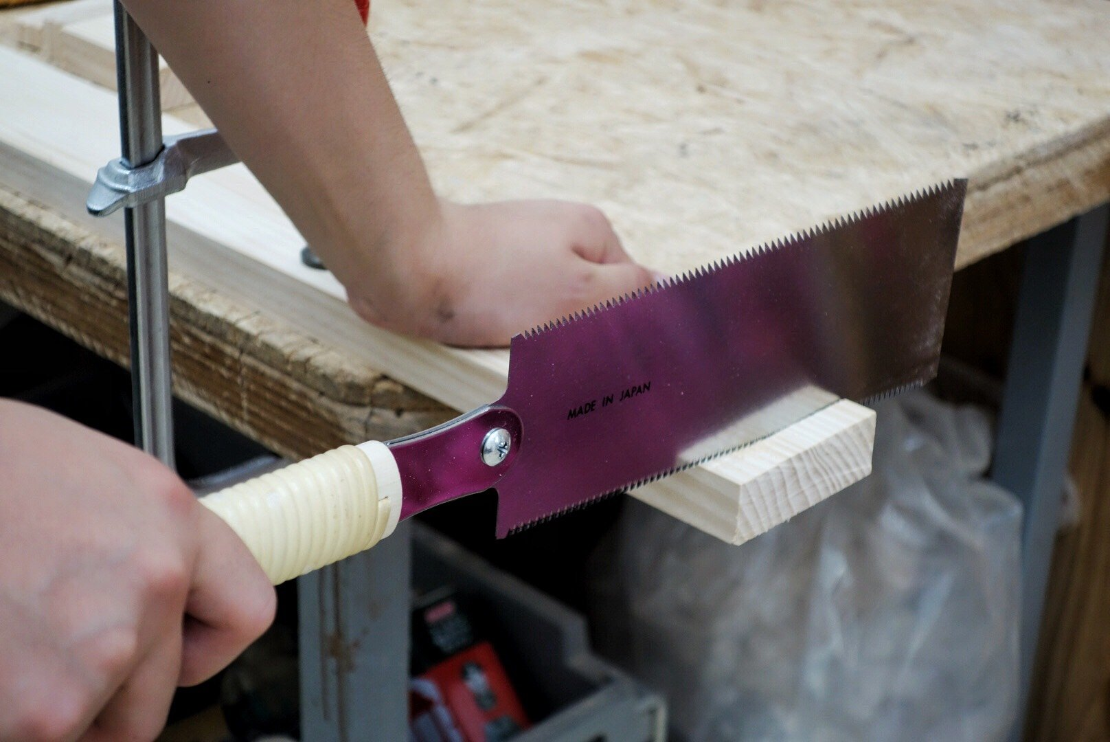 SUIZAN Japanese Pull Saw Hand Saw 9-1/2'' Ryoba (Double Edge) for Woodworking by SUIZAN (Image #7)