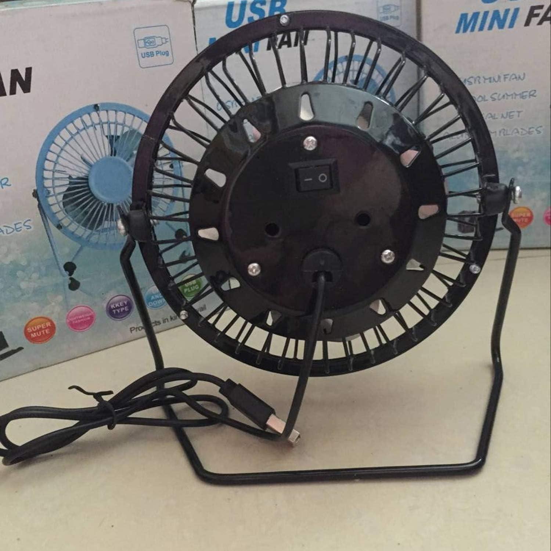 Metal Mini Portable USB Fan Mini Portable Metal USB Fan Desk Cooling Fan Quiet Summer Tablet Fan Home Office Use for Computer Laptop PC Plug /& Play