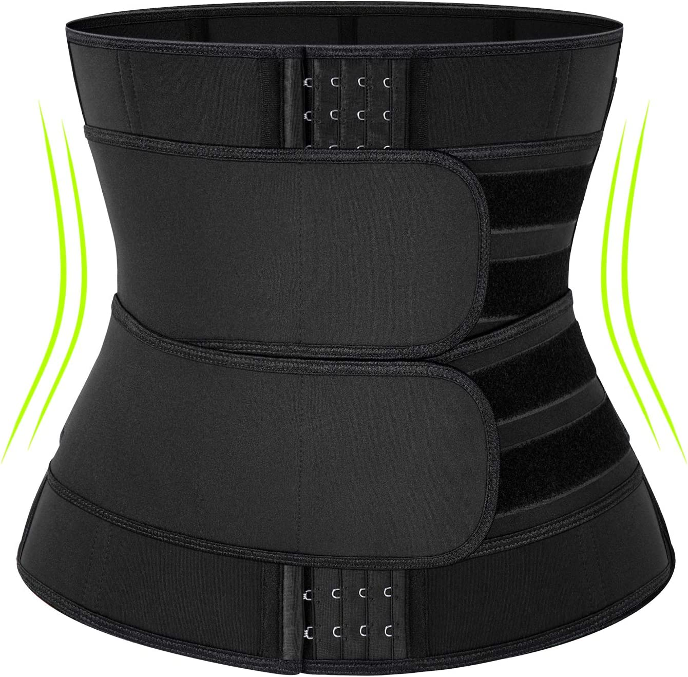 Neoprene Sauna Wide Waist Trainer Corset Sweat Belt for Women Weight Loss Compression Trimmer Workout Fitness Back Support