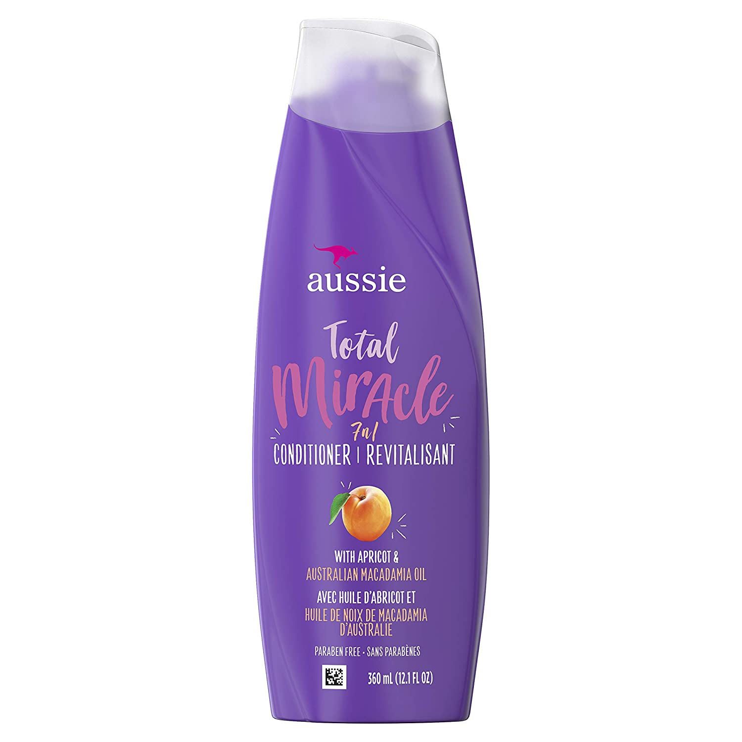 Aussie Paraben-Free Total Miracle Conditioner w/ Apricot For Hair Damage, 12.1 fl oz, Case of 6 (B019H3S9DK)