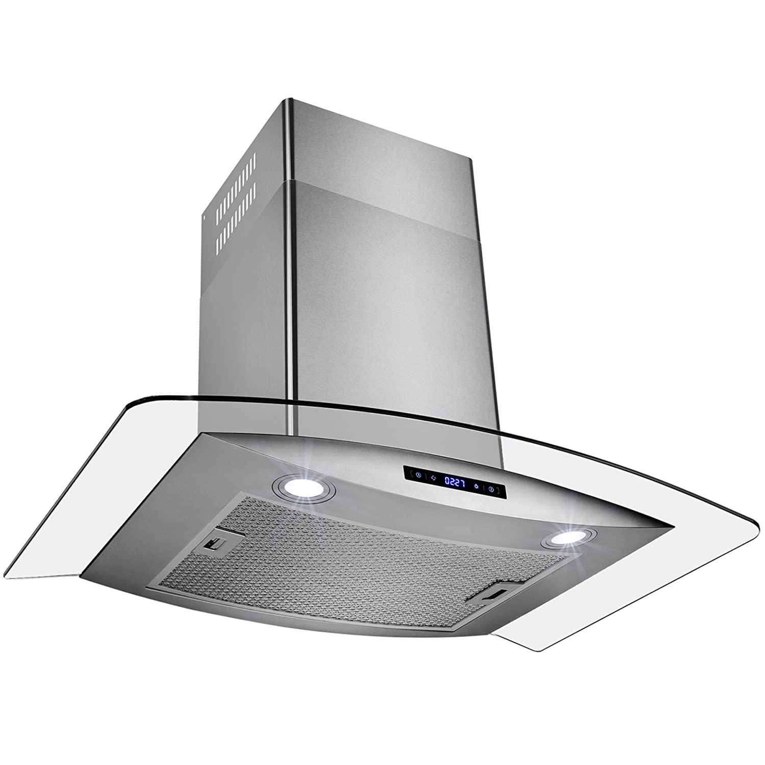 AKDY New 30 European Style Wall Mount Stainless Steel Glass Range Hood Vent Touch Control AZ-688/CS14 30