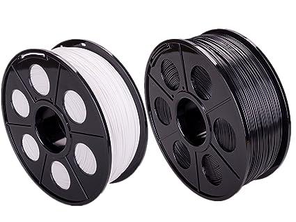ectxo Blanco + Negro 2 Set PLA 1.75 mm 1 kg/rollo Impresora ...