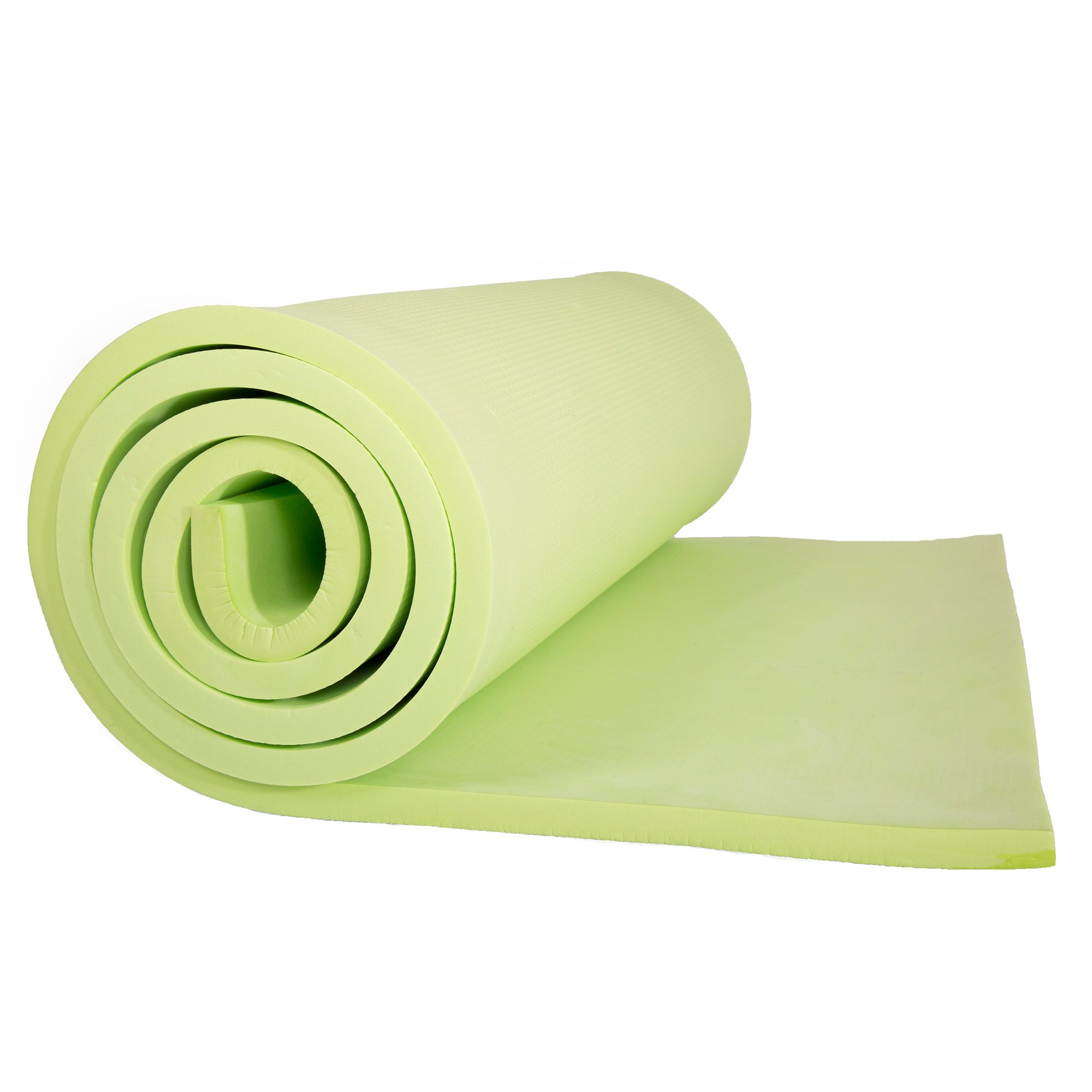 Sleeping Pad, Lightweight Non Slip Foam Mat with Carry Strap by Wakeman Outdoors (Thick Mattress for Camping, Hiking, Yoga and Backpacking) (Green)