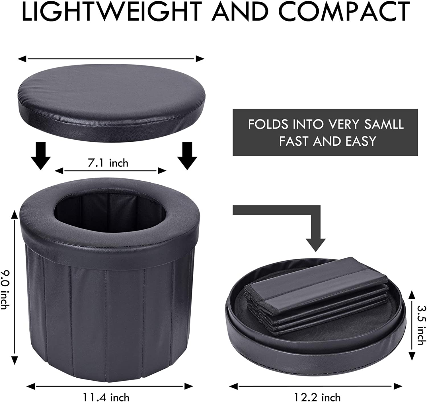 Hiking Boating,Long Trips KDD Portable Toilet Camping Outdoor Car Folding Stool,Toilet for Camping Traffic jam