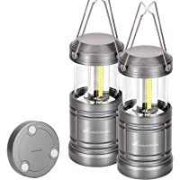 Moobibear 500lm LED Camping Lantern Lights Collapsible - COB LED Storm & Power Outage Lantern Battery Powered with…