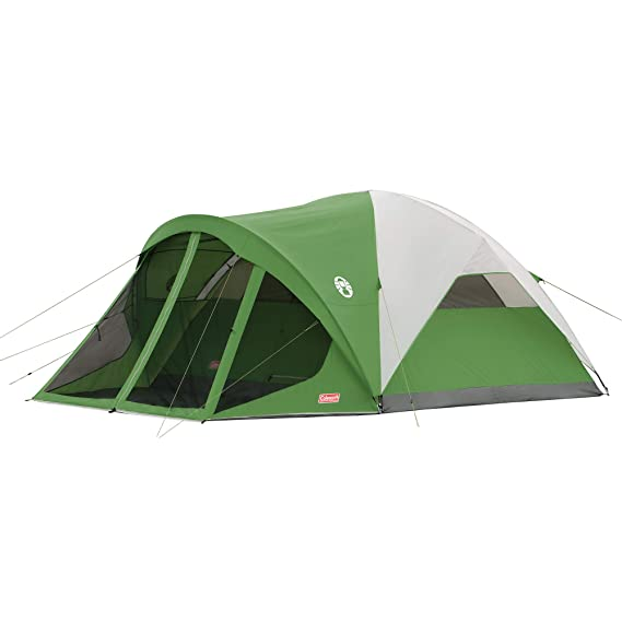Coleman 6-Person Dome Tent with Screen Room | Evanston Camping Tent with Screened-In Porch, Best Dome Tents