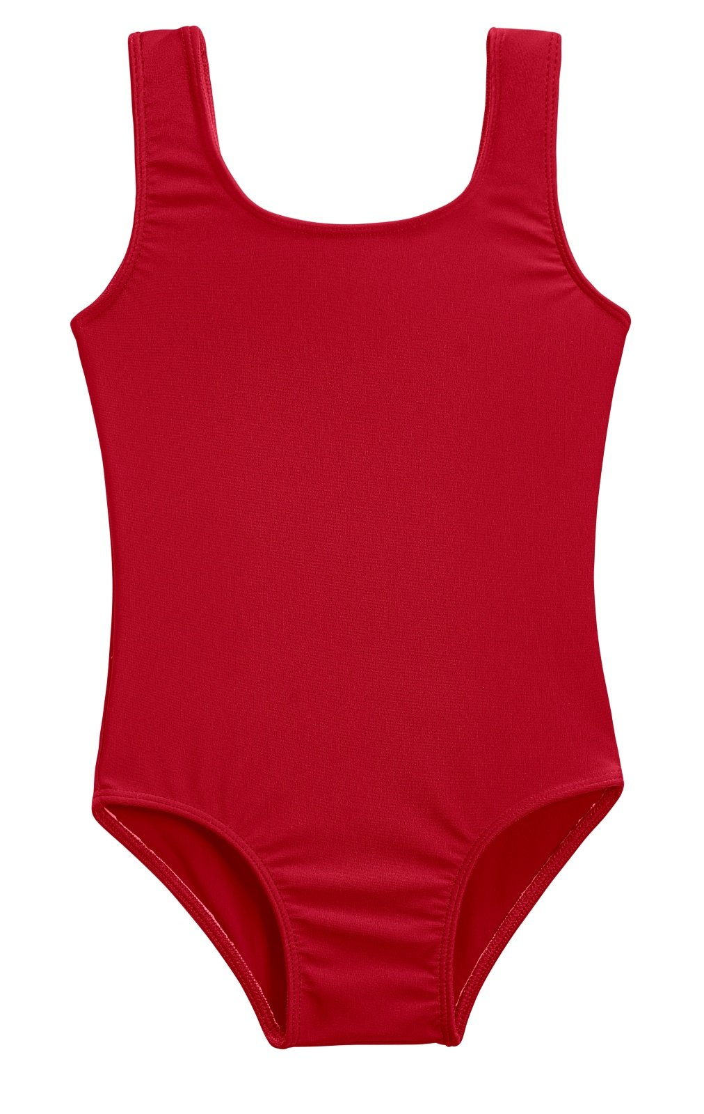 City Threads Girls' One Piece Swimming Suit with Sun Protection SPF for Beach Pool Or Play Swim Suit Rash Guard Bottoms Briefs, Red, 2T