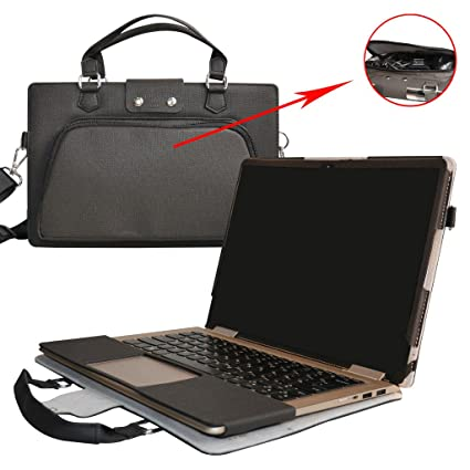 Yoga 710 14 Case,2 in 1 Accurately Designed Protective PU Leather Cover + Portable Carrying Bag for 14